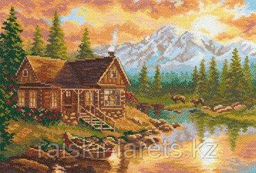 """Набор для вышивания крестиком """"Вечер в горах"""" 3-04"""