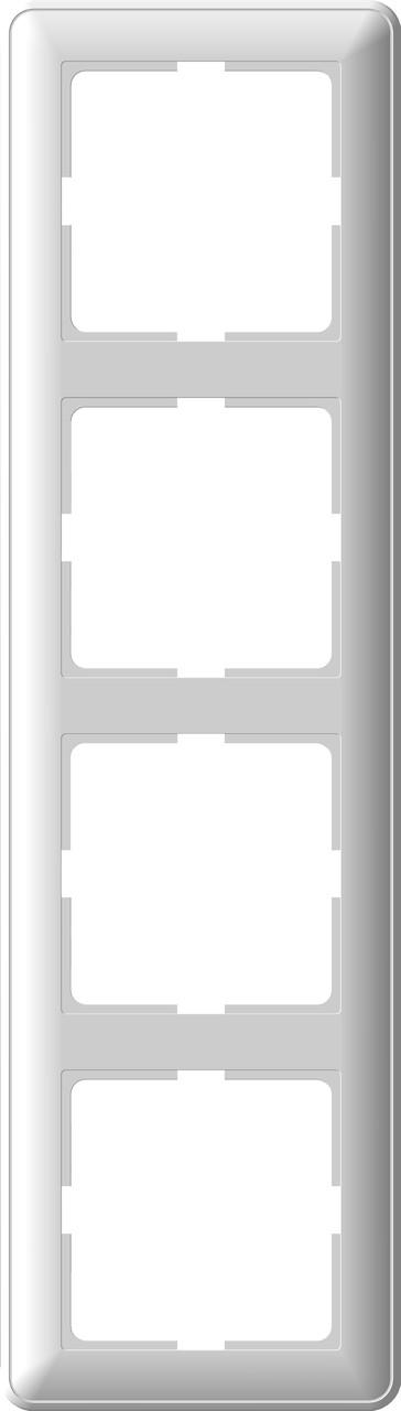W59 4-постовая РАМКА, белый