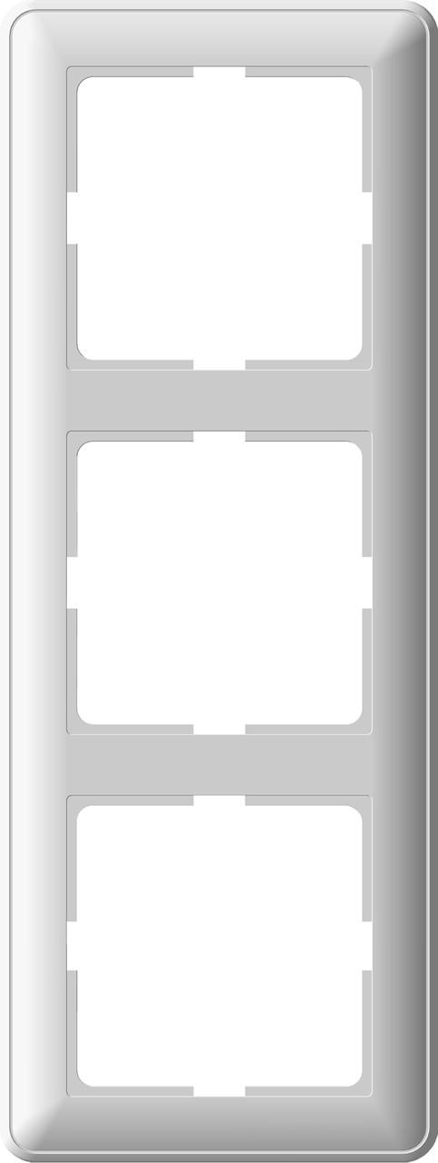 W59 3-постовая РАМКА, белый
