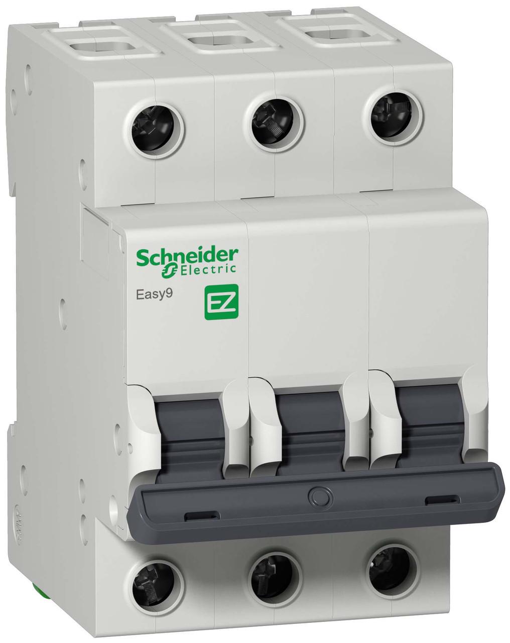Автоматический выключатель EASY 9 3П 16А С 4,5 кА 400 В