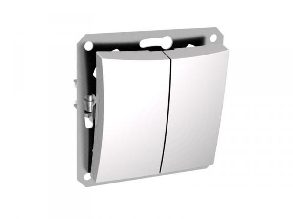 Двухклавишный выключатель СХ5 мех м, белый