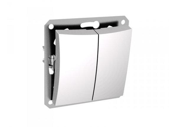 Двухклавишный выключатель СХ5 мех м, белый, фото 2