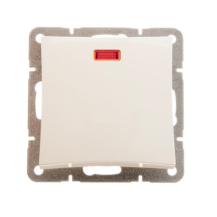 Одноклавишный выкл. СХ1А, подсветка, мех-м, бежевый, фото 2