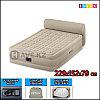 Двухспальная надувная кровать - матрас со спинкой и встроенным насосом Intex 64460 - 229х152х79 см
