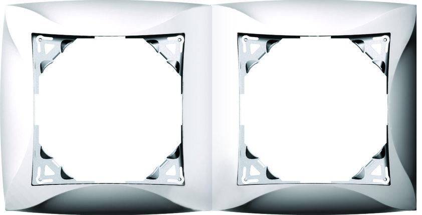 Рамка, 2 места, бежевый, фото 2