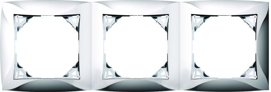Рамка, 3 места, бежевый, фото 2