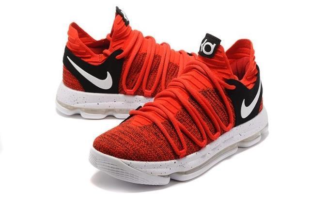 Баскетбольные кроссовки  Nike KD X (10) from Kevin Durant красные