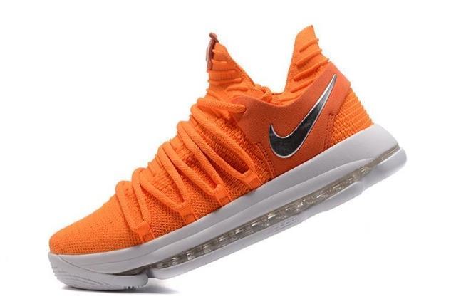 Баскетбольные кроссовки  Nike KD X (10) from Kevin Durant оранжевые