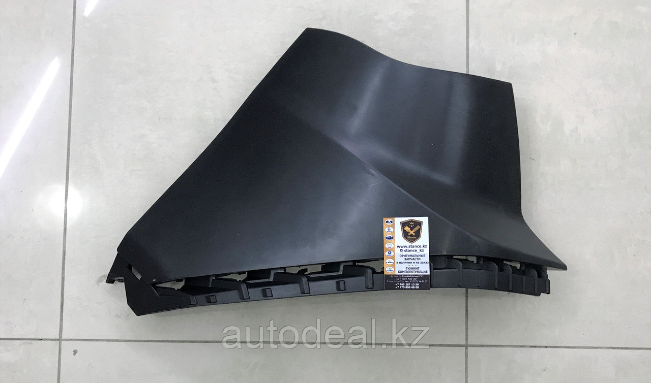 Угловая панель заднего бампера левая S3 пластик над бампером под фонарем / Rear corner plastic panel between