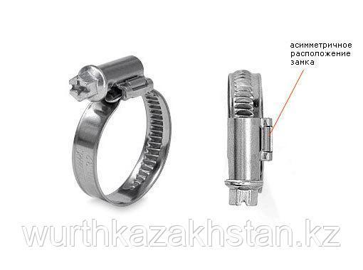 Хомут метал. ZEBRA 40-60 мм