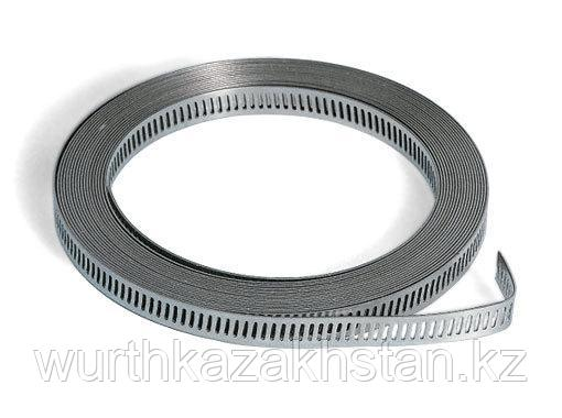 Универсальная стягивающая лента, нерж. А2, 5 м, 8 мм.