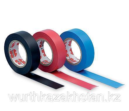 Изолента красная толщ- 0,1 мм., шир= 15 мм, L=10 м. до 9 кВ.
