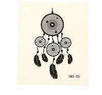 """Татуировка на тело """"Ловец снов"""" , 5,3 см × 6,3 см"""
