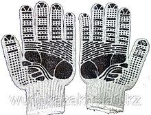 Перчатки серо-черные