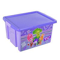 """Ящик для игрушек """"ФИКСИКИ""""  30 л. фиолетовый 48022 (003)"""