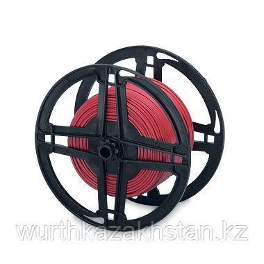 Провод ZEBRA  D1,0  красный   100M