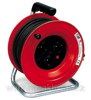 Переноска эл. (удлинитель) 50 м., 3 розетки*230в (кабель H05VV-F3G1.5 пластик)