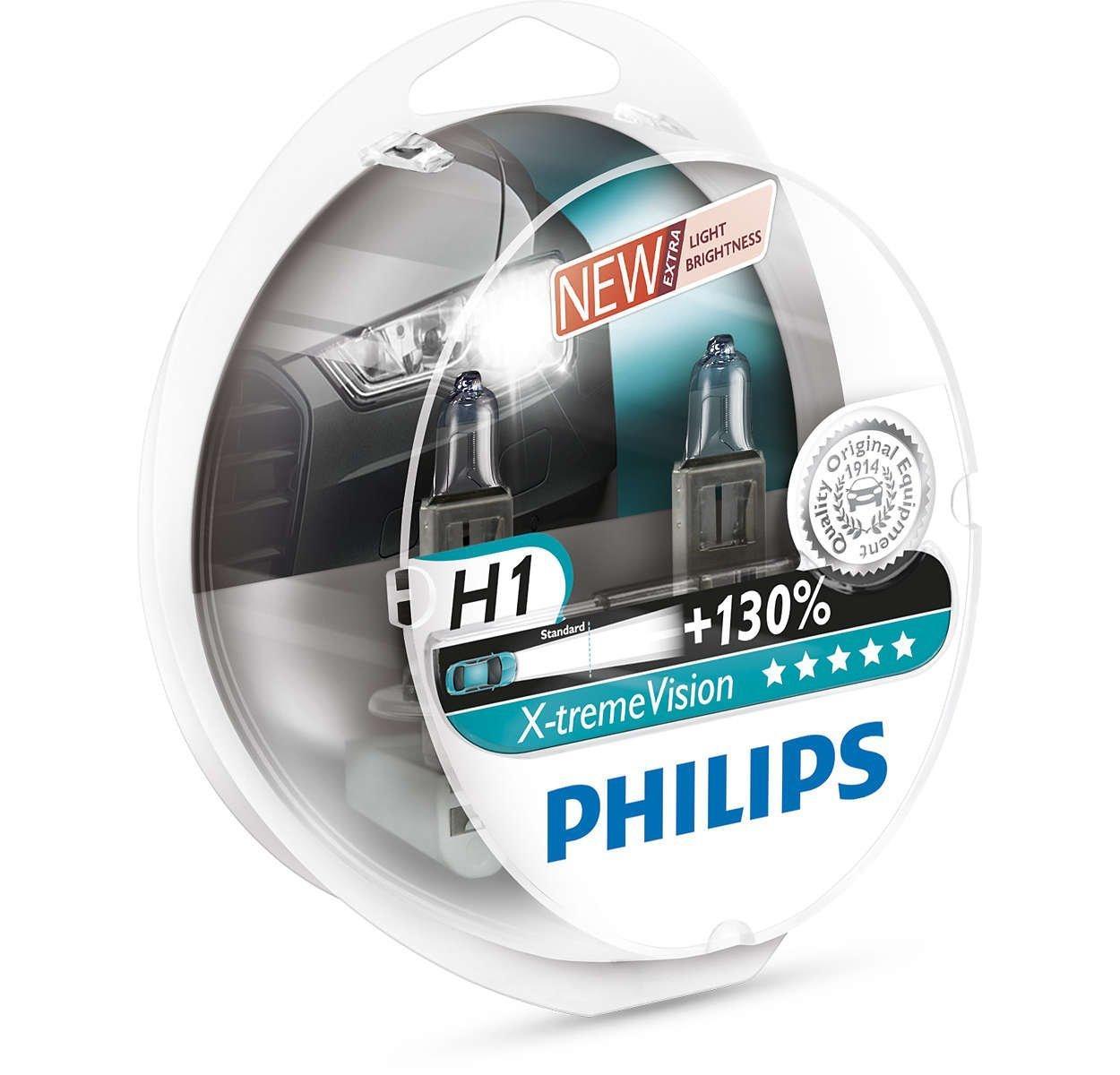 Усиленные галогенные лампы PHILIPS H1 +130 РН X-TREME VISION BOX