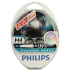 Усиленные галогенные лампы PHILIPS H4 +130 ВОХ X-TREME VISION