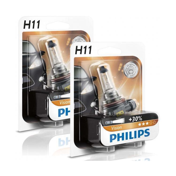 Лампы галогенные PHILIPS H11 +30