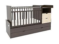 Детская кровать СКВ-5 «Жираф» венге-бежевый