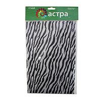 Фетр листовой декоративный 'Зебра', 1 мм, 180 гр, 20*27 см + 3 см тех.кромка, упак./10 шт., 'Астра'