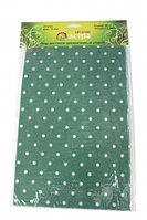 Фетр зелёный в горошек