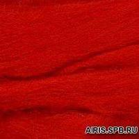 Шерсть для валяния вискоза 100%, 50 гр. (0042 красный)