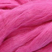 Шерсть для валяния-вискоза ярко-розовая