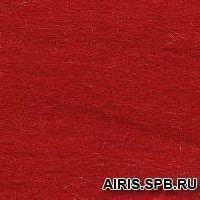 Шерсть для валяния полутонкая 100%, 100 гр. (0042 красный)