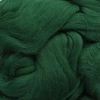 Шерсть для валяния полутонкая 100%, 100 гр. (0110 зеленый)