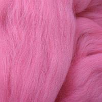Шерсть для валяния мериносовая тонкая 100%, 100 гр. (0160 розовый)