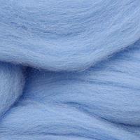 Шерсть для валяния мериносовая тонкая 100%, 100 гр. (0300 св.голубой)