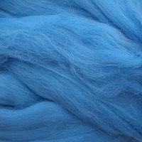 Шерсть для валяния мериносовая тонкая 100%, 100 гр. (0473 голубая бирюза)
