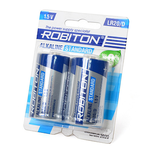 Батарейка Robiton  D Standart Alkaline