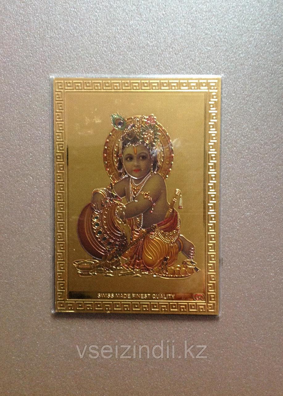 Магнит-сувенир Кришна кушает масло