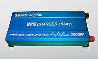 Инвертор 12 220 чистый синус Smart 2000W с функцией зарядки и UPS, фото 1