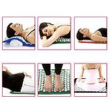 Аппликатор Кузнецова массажный акупунктурный коврик с подушкой массажер для спины., фото 4