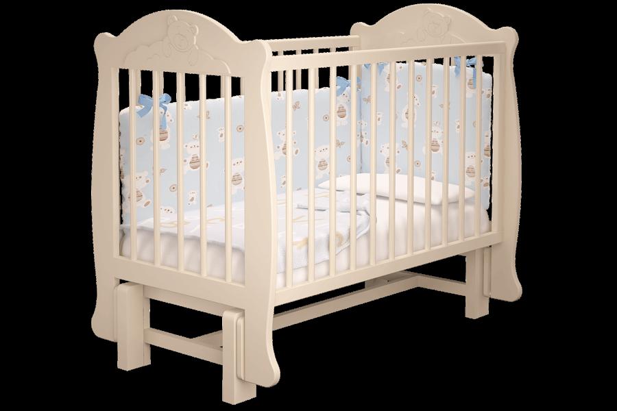Кровать-манеж Можгамебель Мишутка Белая без ящика