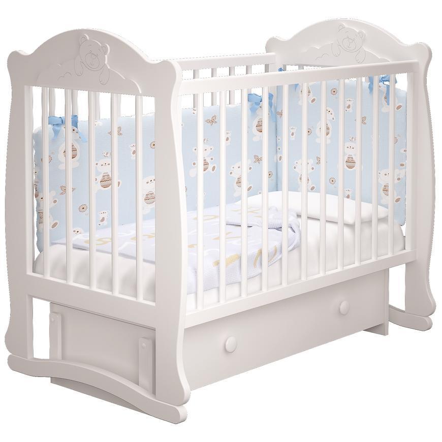 Кроватка детская «Мишутка» с ящ.