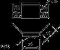 Угловой соединитель 60 мм WKV 60 FS, фото 1