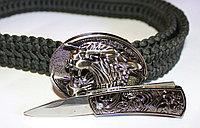 Ремень поясной с ножом скрытого ношения, тигр