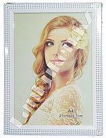 Рамка для документов белая со стразами А4 (для фотографий) 21х29.7 см