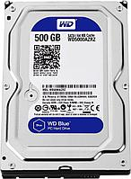 "Жесткий диск HDD  500Gb Western Digital Blue SATA 6Gb/s 3.5"" 5400rpm 64Mb WD5000AZRZ"