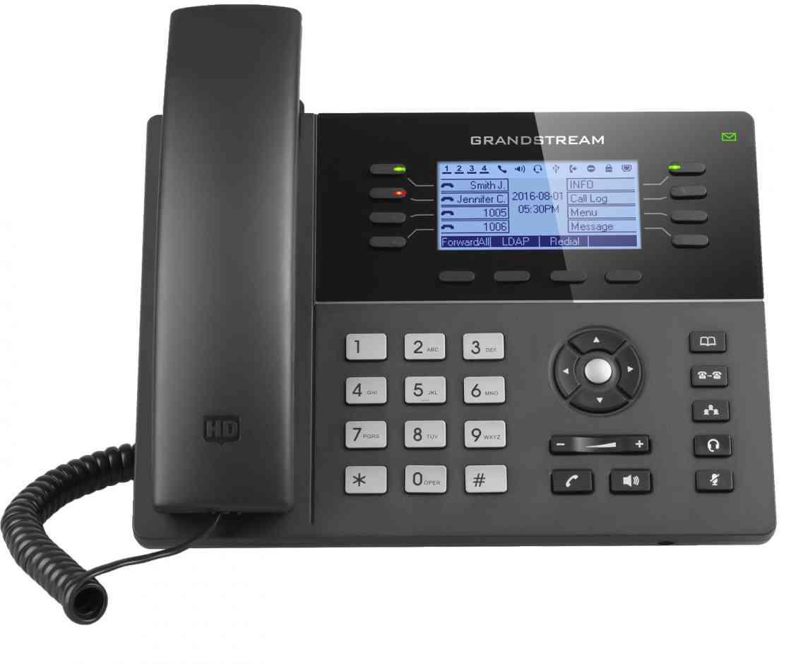 Grandstream GXP1780 IP телефон 4 SIP аккаунта, 8 линий, PoE, 32 virtual BLF