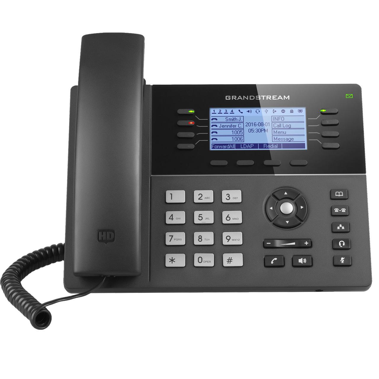 Grandstream GXP1782 IP телефон 4 SIP аккаунта, 8 линий, PoE, (1GbE)Gigabit Ethernet, 32 virtual BLF