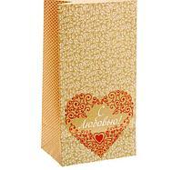 """Пакет подарочный без ручек """"С любовью!"""",10 х19.5 х7 см"""