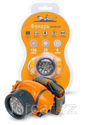Фонарь налобный LEDx19 на батарейках, фото 2