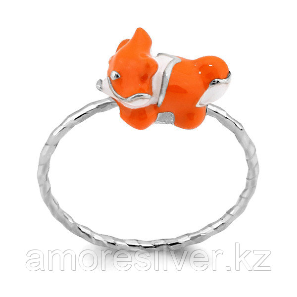 Кольцо из серебра с эмалью   Аквамарин 57040