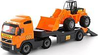 Автомобиль-трейлер + трактор-погрузчик